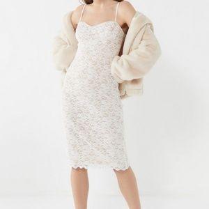 UO Lace Bustier Midi Dress